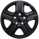 "1pc BLACK Hub Caps 5 Spoke Lug Skin Rim Cover for fits 16"" inch Steel Wheels"