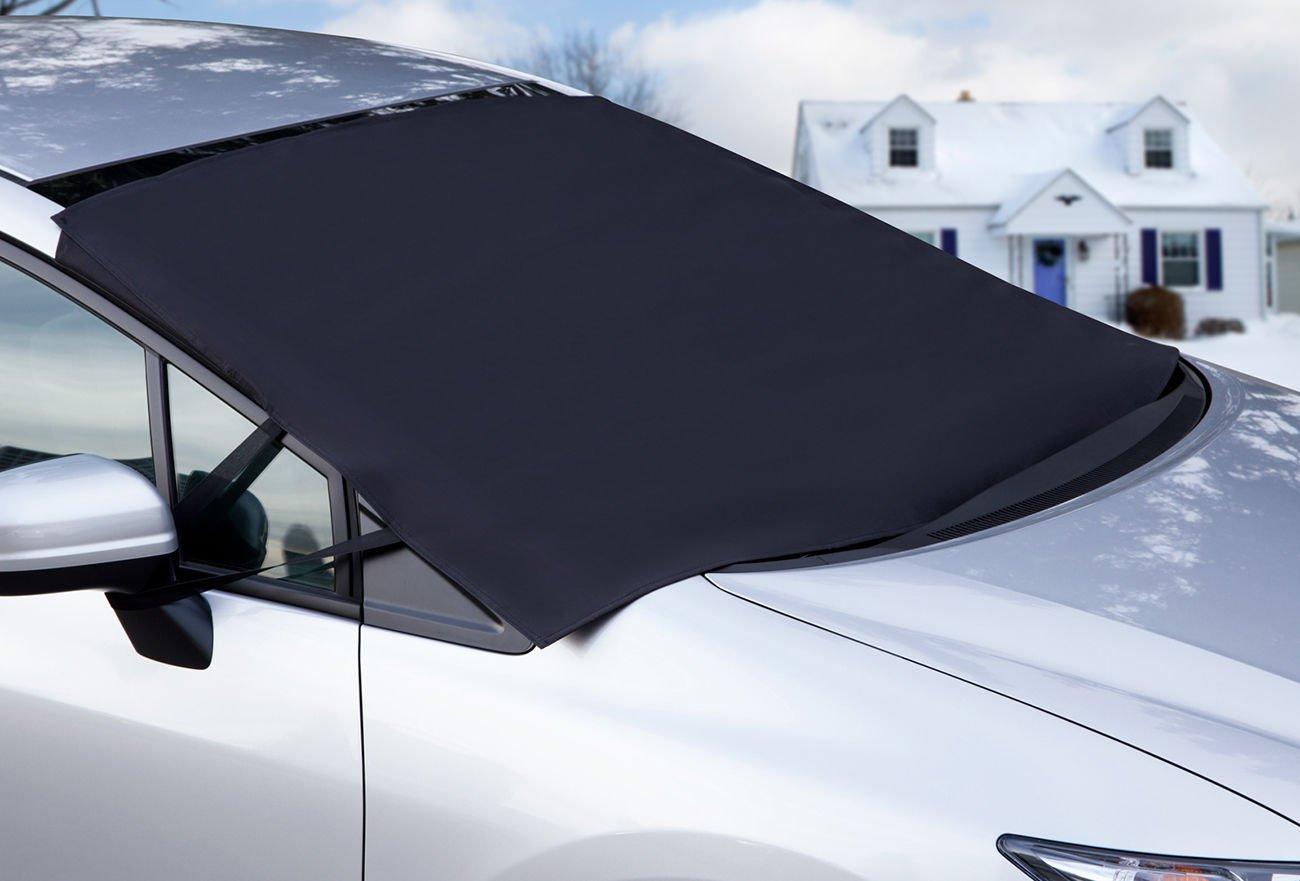 auto windshield snow cover tarp ice scraper frost removal for car truck van suv. Black Bedroom Furniture Sets. Home Design Ideas