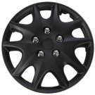 "1 Piece of 14"" Matte Black Hub Caps Full Lug Skin Rim Cover for OEM Steel Wheels"
