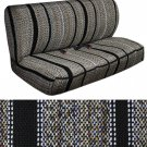 SUV Van Truck Seat Cover Black Western Woven Saddle Blanket 2pc Bench