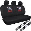 8pc California Republic Bear Red Star Split Bench Car Seat Cover Cali For Nia 1B