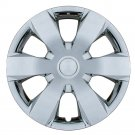 "1pc 16"" Universal Chrome Hub Cap Wheel Cover Car Rim Skin For Steel Wheels Caps"
