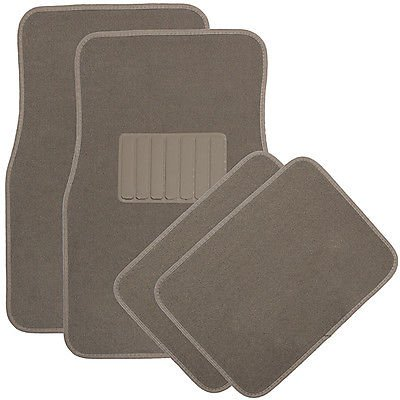 Car Auto Floor Mats for Toyota Camry 4pc Heavy Duty Semi Custom Fit Beige Carpet