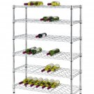 Classics 54-Bottle Chrome 6-Shelf Wine Rack Wire Shelving, NSF Listed W6