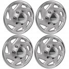 "4 Pc Set of 16"" Inch Chrome Hub Caps Full Lug Skin Rim Cover for OEM Steel Wheel"