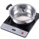 New Midea 1500W Induction Cooktop Cooker with Stainless Steel Pot Table Hotpot