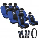 25pc Dolphin Seat Cover Logo FX Embroidered 60/40 Split Benches Full Set Van 4B