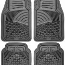 Car Floor Mats for All Weather Rubber 4pc Set Tactical Fit Heavy Duty Grey