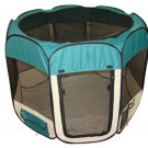 New Large Teal Pet Dog Cat Tent Playpen Exercise Play Pen Soft Crate