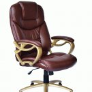 New Brown Ergonomic Office Executive Chair Computer Desk Task Hydraulic