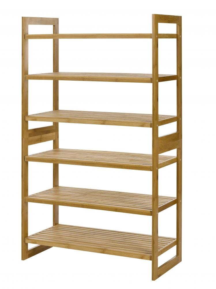 natural bamboo 6 tier shoe rack entryway shoe shelf storage organizer