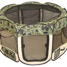 New BestPet Medium Camouflage Cat Pet Dog Tent Puppy Playpen Exercise Pen