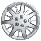 "1pc SILVER Steel Wheel Snap On 16"" Hub Caps 5 LUG A/M Skin Cover"