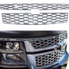 2015-16 Chevy Tahoe Suburban Snap On CHROME Grill Covers Bar Inserts Overlays
