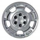 "1 Silverado Tahoe Chrome 17"" Wheel Skin Hub Cap Cover fit 5 Spoke Aluminum Rim"