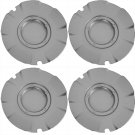4pc Set Chevy Silverado SS 20'' Silver Center Caps Wheels Pop In Skin Hub Cover