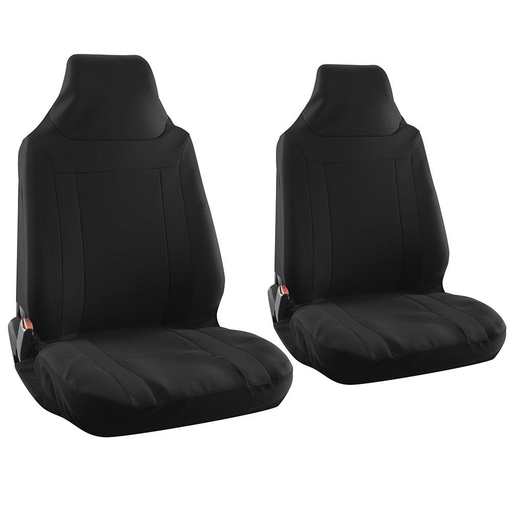kia optima car seat cover black bucket w integrated head rests y stripe. Black Bedroom Furniture Sets. Home Design Ideas