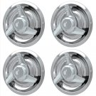 4pc CHROME CHEVY GM Rally 3 Tri-Bar Spinner Wheel Center Hub Caps Rim trim Ring