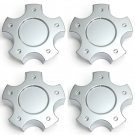 4 Pc Set Chevy Corvette C6-Z06 Silver Center Caps Wheels Rims Pop In Hub Cover