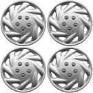 "OEM Steel Wheel 4 Pc Set of 15"" Inch Silver Hub Caps Full Lug Skin Rim Cover"