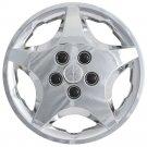 "1pc Chevy Cavalier Snap On CHROME 14"" Hub Cap 5 Spoke A/M Steel Wheel Skin Cover"