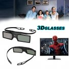 2x Universal 3D Active Shutter TV Glasses Bluetooth For Samsung Panasonic