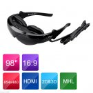 "Virtual Digital 98"" 3D/2D Stereo Video Glasses for TV Box PC Smartphone PS3 PS4"