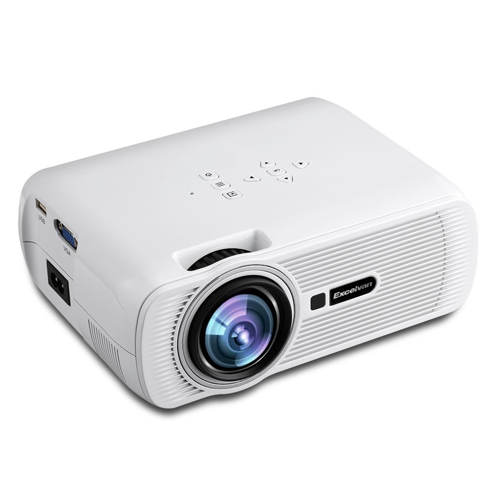 Portable multimedia lcd led projector 800x480 hdmi usb atv for Portable usb projector