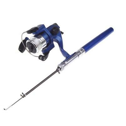 Mini fishing tackle pocket pen kit rod pole and reel for Mini fishing reel