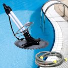 New Inground Automatic Swimming Pool Vacuum Cleaner Hover Wall Climb -33ft Hoses