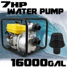 "7HP 3600RPM 16000GPH 3"" Inlet Outlet Trash Water GAS Pump EPA 4 Stroke Gasoline"
