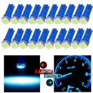 20 x T5 Ice Blue 58 70 73 74 Dashboard Gauge 5050SMD LED Wedge Lamp Bulb Lights