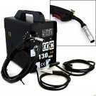 MIG-130 Flux Core Wire Welder Welding Machine w/ Cooling Fan Face Mask 115V