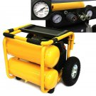 Twin Stack 3.5HP Air Compressor 8 Gallon Heavy Duty Pneumatic Tires 115 PSI Shop