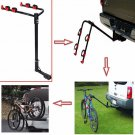 """New 2 Bicycle Bike Rack Carrier 1-1.4"""" & 2"""" Hitch Mount Carrier Car Truck"""