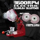 New Electric Chain Grinder Chainsaw Sharpener Grinding Wheels Lamp Work Bench