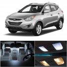 8x Premium White LED Interiror Light Bulbs Package For 2010-2016 Hyundai Tucson