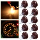 10X T4/T4.2 Neo Wedge Warm White Dashboard A/C Climate Light Bulb Lamp US