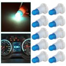 10Pcs T5/T4.7 Neo Wedge Ice Blue Dashboard A/C Climate Control Heater Light Bulb
