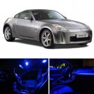 7pcs Luxury Blue LED Light Full Interior Package Kit For Nissan 350Z 2003-2008