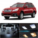 8pcs Luxury White Car LED Interior Lights Package For 2000-2004 Subaru Outback