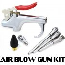 New 5 PC Blow Gun Air Compressor Nozzle Inflation Needle Blower Rubber Tip Kit