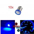 10Pcs Blue BA9S LED 1-5050-SMD Instrument Speedometer Dash Lights Bulb For Ford