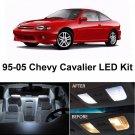 9x Super White Interior Light LED Package Bulbs For Chevrolet Cavalier 1995-2005