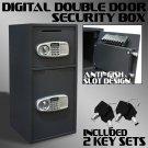 New Digital Safe Double Door Drop Depository Cash Box Safe Anti Fish Slot