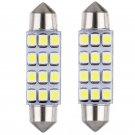 20 LED 3528 12SMD Dome Light Bulb Festoon 42MM 211-2 For Scion Mitsubishi