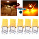 5x Yellow T10 5050 LED Bulb License Light For Acura Lexus Scion Honda