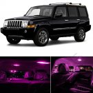 12PCS Pink/Purple SMD LED Interior Lights Package For 2006-2010 Jeep Commander