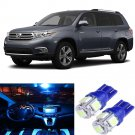 8pcs Aqua Ice Blue LED Interior Package Kit For 2001-2007 Toyota Highlander
