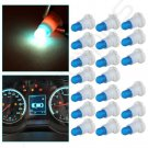20x Ice Blue Bulb Dash A/C Heater Climate Indicator Light Lamp T5/T4.7 Neo Wedge